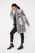 Scroll Coatigan Sweater - Plus - 1