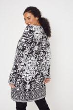 Scroll Coatigan Sweater - Plus - 7