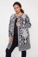 Scroll Coatigan Sweater - Plus - 6