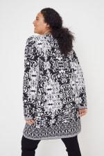 Scroll Coatigan Sweater - Plus - 8