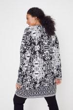 Scroll Coatigan Sweater - Plus - 9