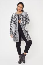 Scroll Coatigan Sweater - Plus - 5