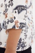 Roz & Ali Floral Jacquard Pintuck Popover - Plus - 8