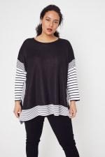 Roz & Ali Colorblock Stripe Poncho - Plus - 5