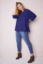 Westport Curved Hem Tunic Sweater  - Plus - 3