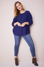 Westport Curved Hem Tunic Sweater  - Plus - 7