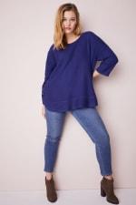 Westport Curved Hem Tunic Sweater  - Plus - 8