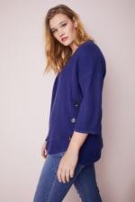 Westport Curved Hem Tunic Sweater  - Plus - 9