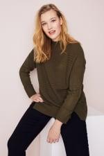 Westport Mixed Stitch Pullover Sweater - Plus - 14