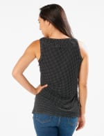 Mesh Dot Tier Knit Top - Black/White - Back