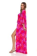 Pink Palm Swim Kimono - 6