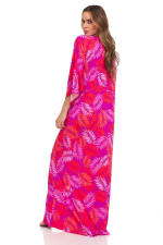 Pink Palm Swim Kimono - 5