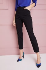 Petite  Super Stretch Tummy Control Pant with Cat Eye Pockets and Ankle Slits - Petite - 3