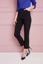 Petite  Super Stretch Tummy Control Pant with Cat Eye Pockets and Ankle Slits - Petite - 33