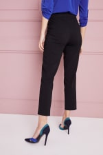 Petite  Super Stretch Tummy Control Pant with Cat Eye Pockets and Ankle Slits - Petite - 6