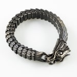 Dell Arte by Jean Claude Spiritual Stainless Steel Bracelet With Lucky Antic Dragon Closure - 2