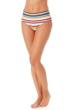Anne Cole Midrise Bikini Bottom - Multi - Front