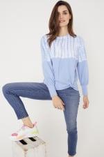 Westport Tie Dye Side Knot Sweater - 11