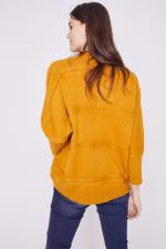 Westport Cocoon Cardigan Sweater - Golden Yellow - Back