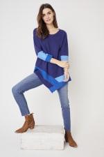Westport Colorblock Asymmetrical Sweater - 4