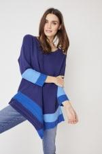 Westport Colorblock Asymmetrical Sweater - 6