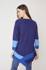 Westport Colorblock Asymmetrical Sweater - 2