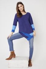 Westport Colorblock Asymmetrical Sweater - 5