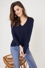 Roz & Ali Pointelle Hi/Lo Tunic Sweater - 4