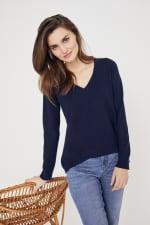Roz & Ali Pointelle Hi/Lo Tunic Sweater - 5