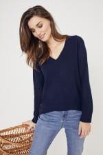 Roz & Ali Pointelle Hi/Lo Tunic Sweater - 3