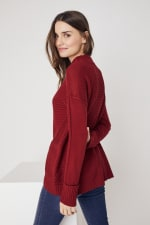 Westport Mixed Stitch Pullover Sweater - 11
