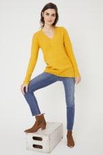 Westport V-Neck Sweater Tunic - 4