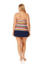 Anne Cole Rock Classic Swim Skirt - Plus - Navy - Back