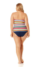 Anne Cole Convertible Shirred Hi Low Swimsuit Bottom - Plus - 6