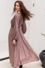Linda V-Neck Dress - 5