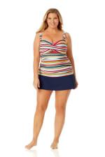 Anne Cole Rock Classic Swim Skirt - Plus - 6
