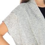 Textured Stripe Light Weight Cardigan - 3