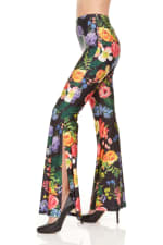 Wide Leg Pull On Pant With Floral Print - 2