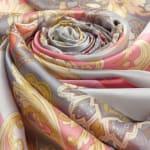 Soft Floral Vintage Pashmina Silk Scarf - 4