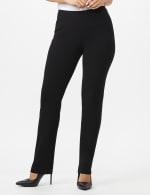 Roz & Ali Secret Agent Pull On Tummy Control Pants with L Pockets - Petite - Black - Front