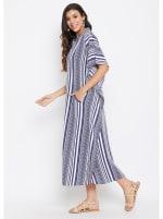 Button Kaftan Dress for Women - Plus - 6