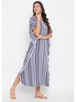 Button Kaftan Dress for Women - Plus - 5