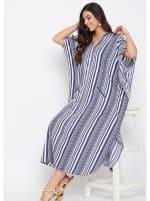 Button Kaftan Dress for Women - Plus - 4