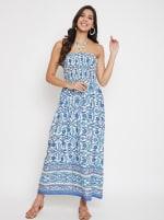 Floral Tube Dress for Women - 3