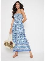 Floral Tube Dress for Women - 4