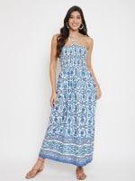 Floral Tube Dress for Women - 1