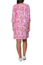Caribbean Joe Yoke Neck Dress - Hot Pink - Back