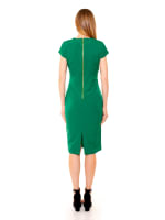 Bella Cap Sleeve Keyhole Sheath Dress - 5