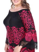 Alta Long Sleeve Lace Hemline Dress - Plus - 3