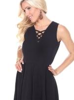 Shay Fit & Flare Crisscrossed Neckline Dress - 11